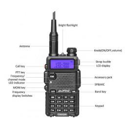 Цифровая рация Baofeng DM-5R (фонарик, радио, кодирование)