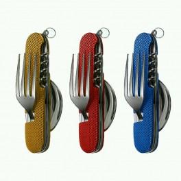 Набор для туриста 6 в 1 вилка ложка нож мультитул