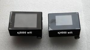 Сравнение экраны у SJCAM SJ4000 и SJ5000